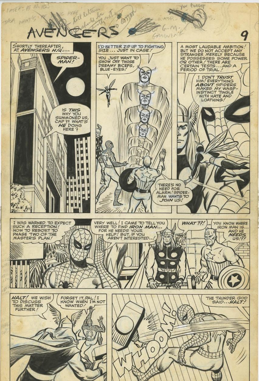 avengers 11 - original art